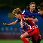 Amanda Sampedro, ante el Barcelona