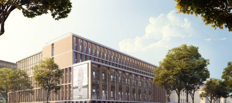 Recreación del nuevo edificio de Filosofía y Letras