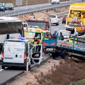 Accidente en la A42 a la altura de Illescas (Toledo)