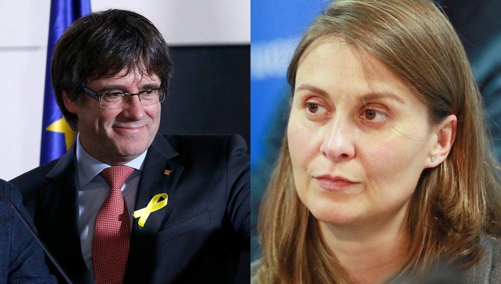 Carles Puigdemont y Meritxell Serret