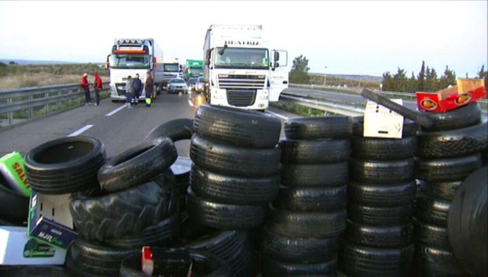 Barricadas en la A-2