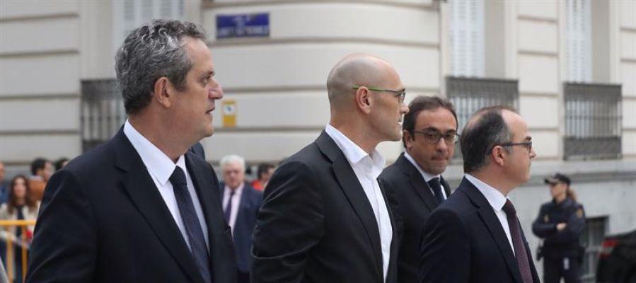 Los exconsejeros de la Generalitat de Cataluña Joaquim Forn, Raul Romeva, Jordi Turull y Josep Rull