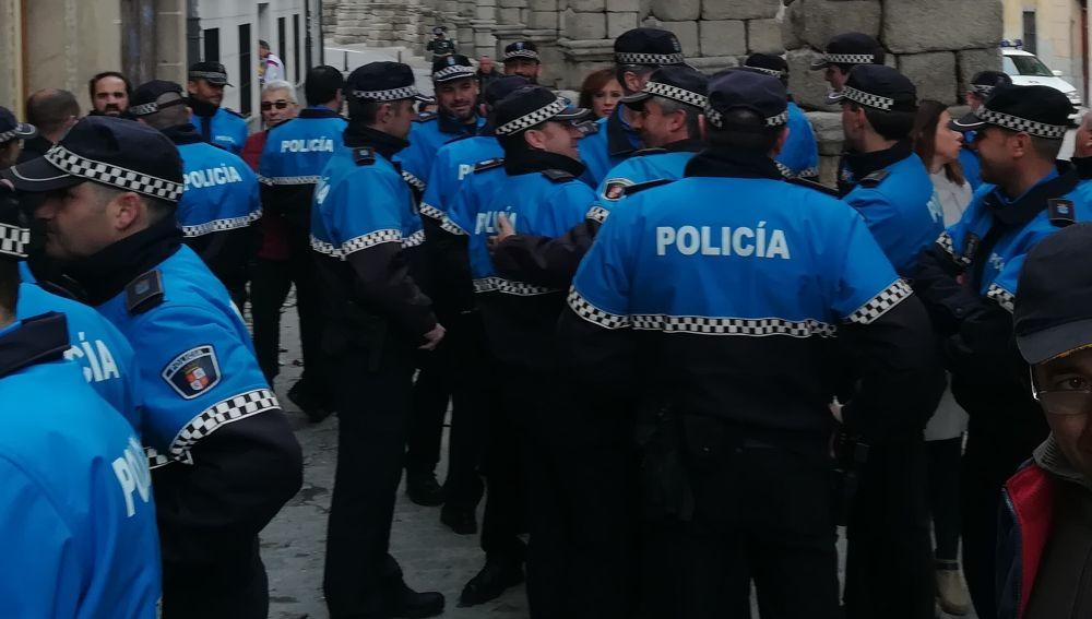 Agentes de la Policía Local de Segovia