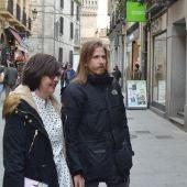 Natalia del Barrio y Pablo Fernández en su visita a Segovia.