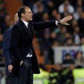 Allegri, durante el partido ante el Real Madrid
