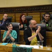 Ediles del PSOE y Xixón Sí Puede en el Ayuntamiento de Gijón