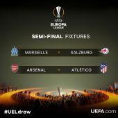 Marsella - Salzburgo y Arsenal - Atlético de Madrid, semifinales de la Europa League