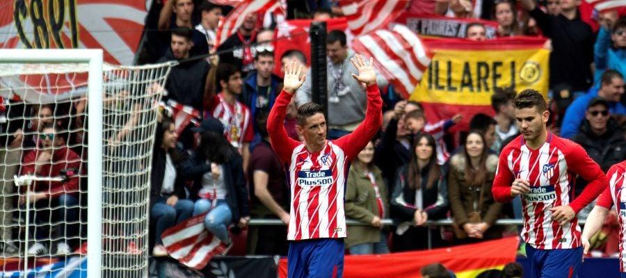 Fernando Torres celebra su gol ante el Levante