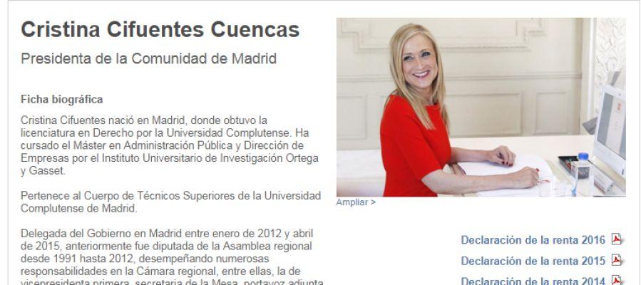 Biografía Cristina Cifuentes.