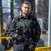 Policía de Toronto en el lugar del atropello