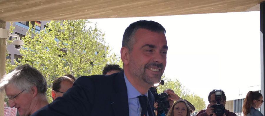 El ex consejero, Santi Vila, en los juzgados de Huesca