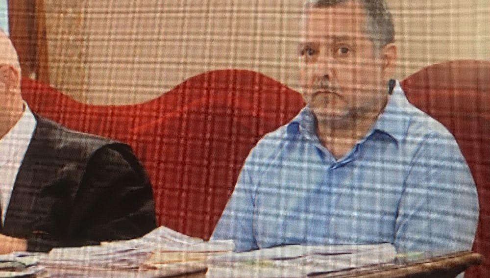 El acusado de matar a su mujer en Palma, en noviembre de 2016, durante el Juicio en la Audiencia de Palma