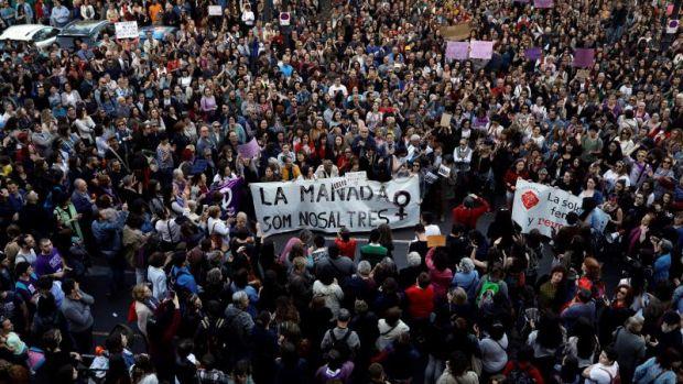Protestas en Valencia contra la sentencia de La Manada