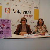 La regidora d´Igualtat Rosario Royo i Ana Claramonte del Grup de Dones Vila-real han presentat el Punt Violeta.