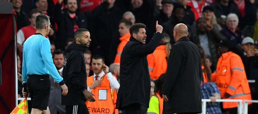 Simeone, tras ser expulsado en contra el Arsenal