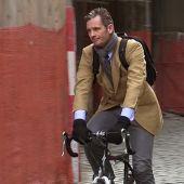 Iñaki Urdangarin rodando en bicicleta en Ginebra.