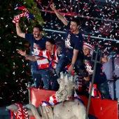 Torres, Godín, Koke y Gabi, en Neptuno