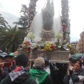 Salida de la Virgen de Alarcos en la Iglesia de San Pedro