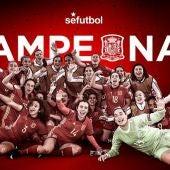 La selección española femenina sub-17 se proclama campeona de Europa