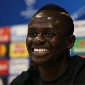 Sadio Mané, en el Media Day del Liverpool