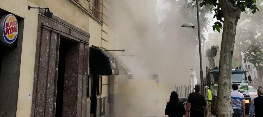 Se derrumba el forjado de un edificio en rehabilitación en Madrid