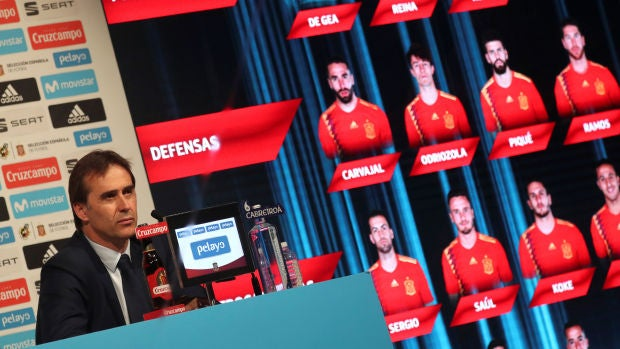 Julen Lopetegui ofrece la lista de convocados para el Mundial