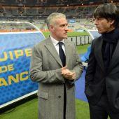 Didier Deschamps y Joachim Löw, en un encuentro entre Alemania y Francia.