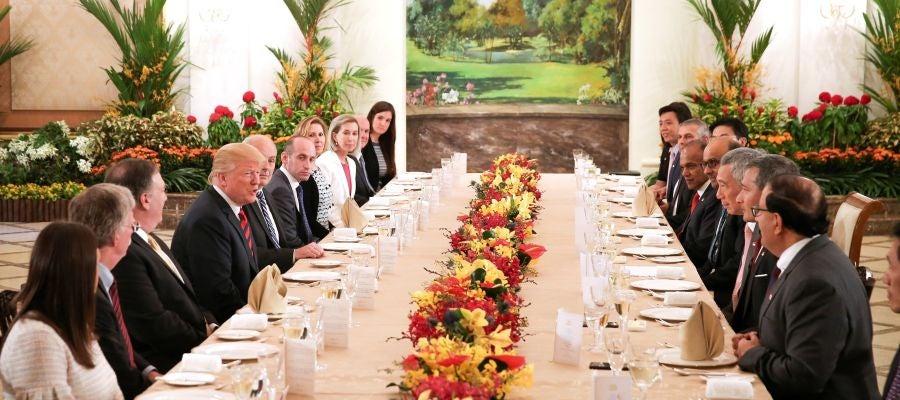 El primer ministro de Singapur, Lee Hsien Loong, y el presidente de EEUU, Donald Trump