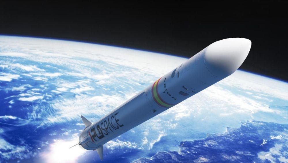 Simulacion gráfica del cohete Arion 1 de PLLD Space