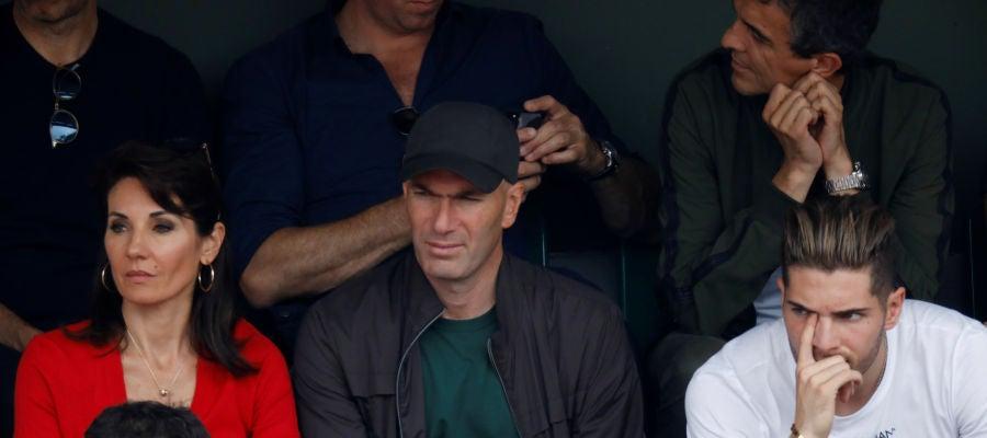 Zidane, viendo la final de Roland Garros