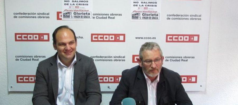 José Manuel Muñoz (CC.OO.) y Juan Jiménez (UGT)