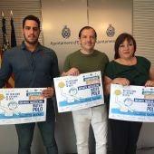 Francis Torres, director deportivo del Club Waterpolo Elx; el concejal de Deportes, Jesús Pareja; y la presidenta del Club Waterpolo Elx, María José Molla.