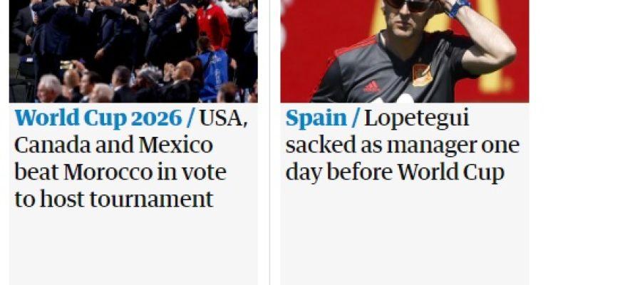 'The Guardian', sobre la destitución de Lopetegui