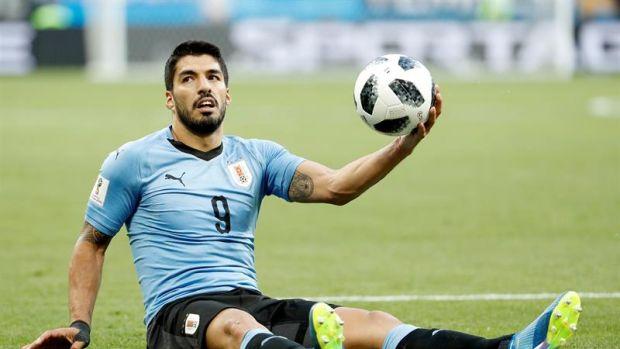 Luis Suárez con Uruguay.