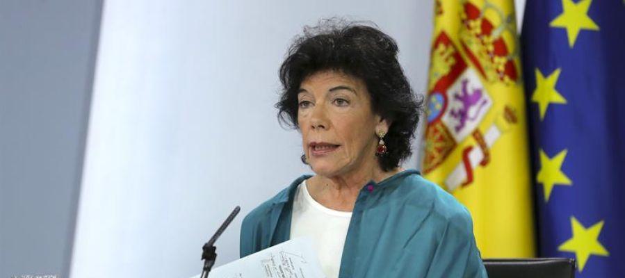 La ministra de Educación, FP y Portavocía, Isabel Celaá, durante el Consejo de Ministros