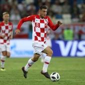 Kovacic, jugando con Croacia