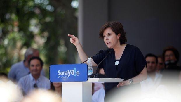 La candidata a presidir el PP, Soraya Sáenz de Santamaría