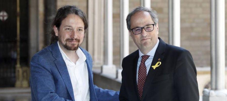 Pablo Iglesias y Quim Torra