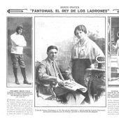 Recorte de periódico sobre Fantomas
