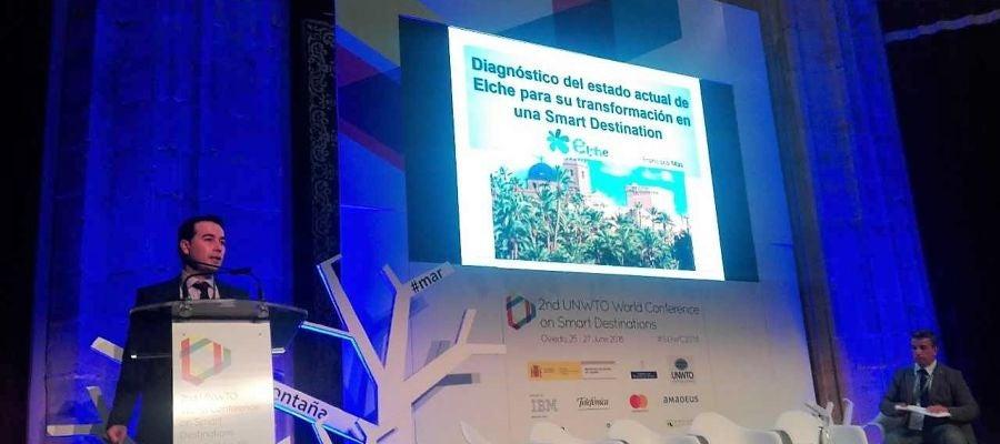 Momento de la ponencia de Visitelche en el II Congreso Internacional de Destinos Turísticos Inteligentes