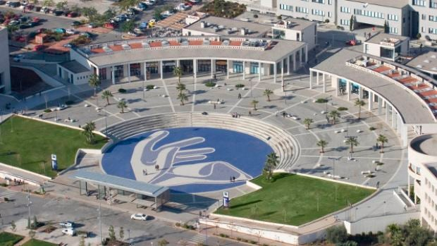 Vista aérea del agora de la Universitat Jaume I