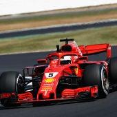 Vettel, con su Ferrari