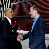 El Rey acompaña a Barack Obama en su visita al museo Reina Sofía