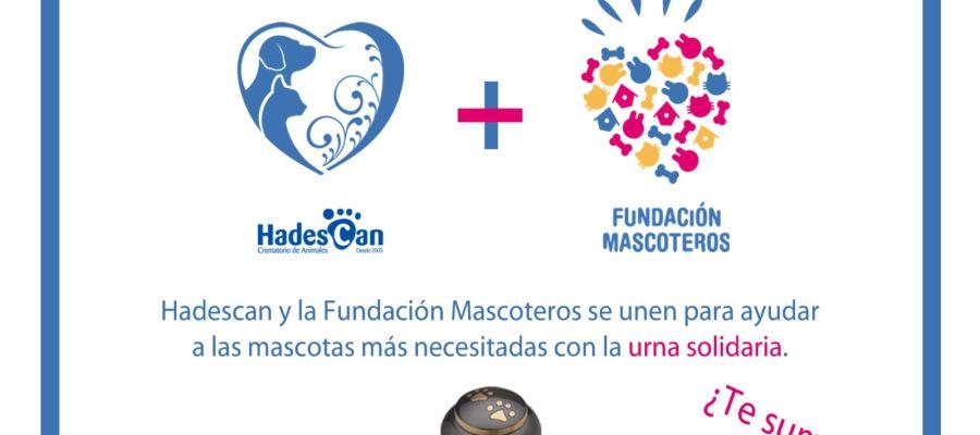 Urna solidaria de Hadescan y Fundación Mascoteros