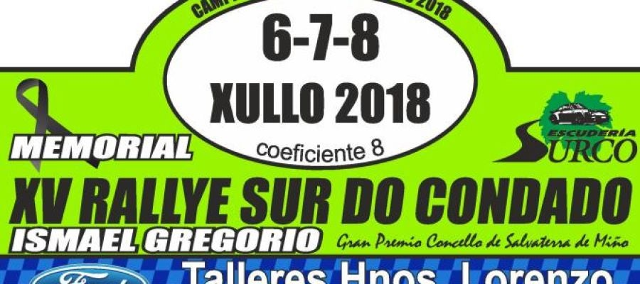 Cartel del rally de Sur do Condado