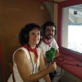 Mila Vidondo y Javier Poyo