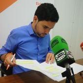 David Caballero en la rueda de prensa