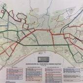 El lunes se estrena el nuevo mapa de movilidad para Granada