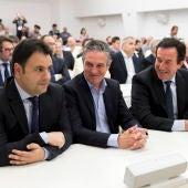 Daniel Rubio, Paco Román y Juan Anguix, en una Junta de accionistas del Elche CF.