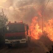 Camión de Bomberos en los incendios de Grecia